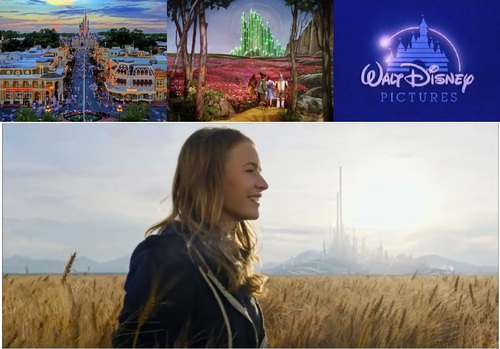 Main Street USA and Castle, The Emerald City in <i>The Wizard of Oz</i>, Disney Logo, Tomorrowland
